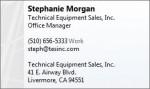 Stephanie Morgan VCF Cards